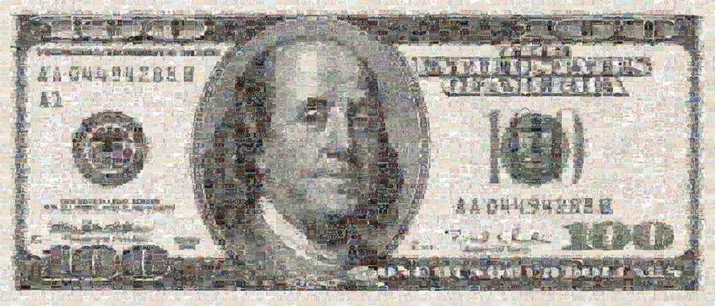 Image of $100 Bill Mosaic